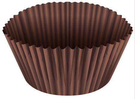 minature: illustrazione di una tazza marrone su uno sfondo bianco Vettoriali