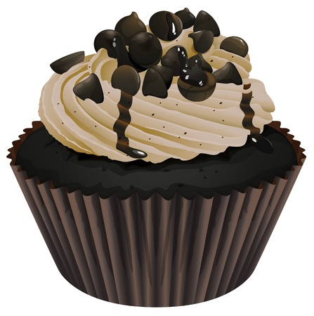 Illustration of an isolated a cupcake on a white background Illustration