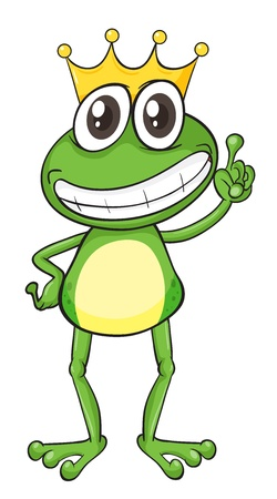 illustration of a frog on a white background Vector