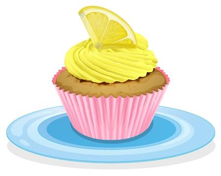 minature: illustrazione di un cupcake su uno sfondo bianco Vettoriali