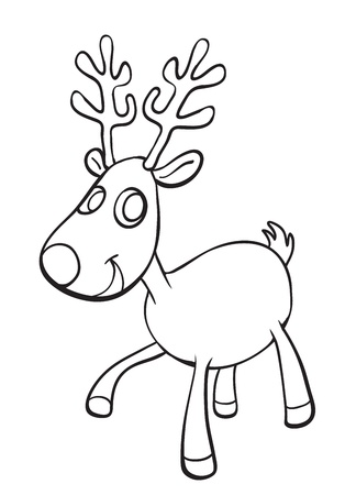 merry mood: illustration of a reindeer on a white background Illustration