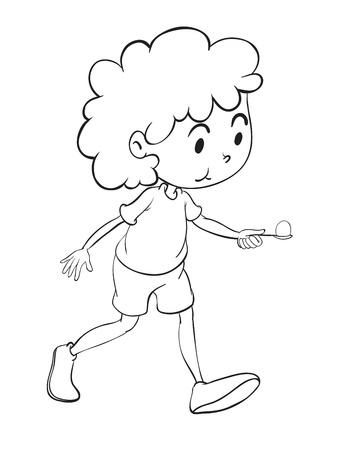Ilustración De Un Boceto Niño Sobre Un Fondo Blanco Ilustraciones ...