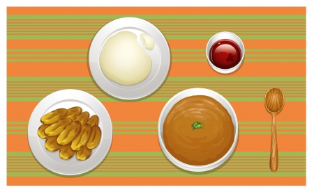 illustration of food on a colored background Vector