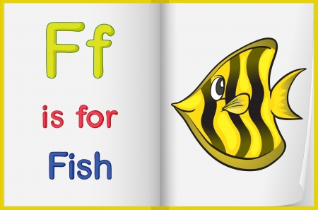 fish f illustrated letters and words worksheet