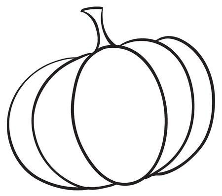 simple meal: Illustraiton of a simple vegetable illustration on white