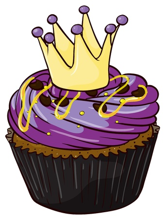 minature: Illustrazione di un Cupcake isolato