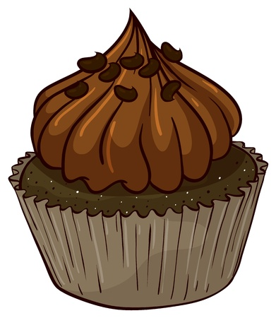 Illustration of an isolated cupcake Stock Vector - 16157996