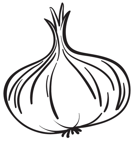 Illustraiton of a simple vegetable illustration on white Vector