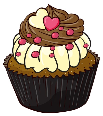 cupcake illustration: Illustration of an isolated cupcake