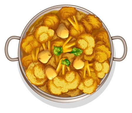 curry: illustration of indian food on a white background Illustration
