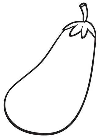 fruit clipart: Illustraiton of a simple vegetable illustration on white
