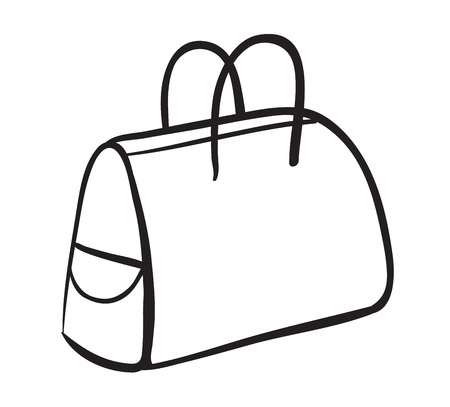 leather bag: illustration of a purse on a white background Illustration