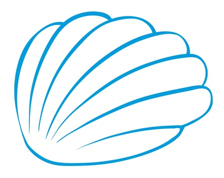 oceanic: illustration of a cockleshell on a white background