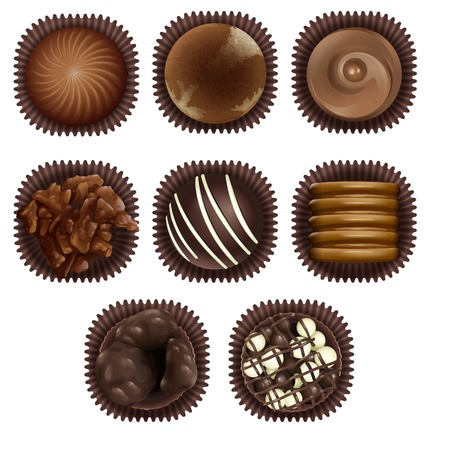 illustration of chocolate on a white background Vector