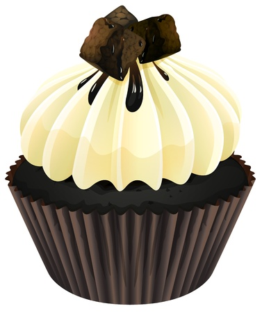 illustration of a cupcake on a white background Stock Vector - 16188289