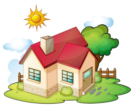 illustration of a house in a beautiful nature Stock Vector - 16188255