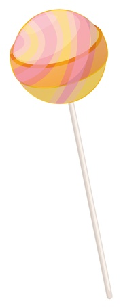 yum: illustration of a sweet candy on a white background