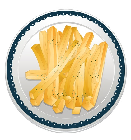 illustration of a fries on a white background Stock Vector - 16188257