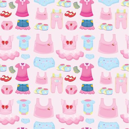 Illustration eines Baby-Bekleidung auf einem rosa Hintergrund Vektorgrafik