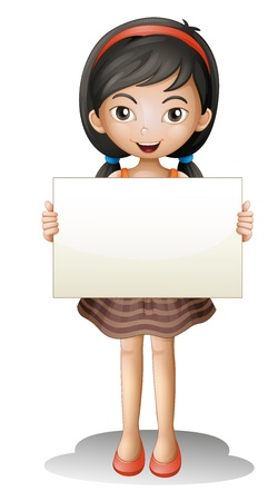 illustration of a girl on a white background Vector