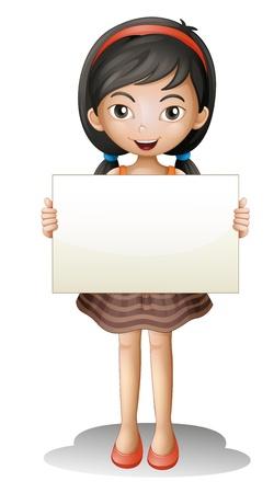 zapatos escolares: ilustración de una chica sobre un fondo blanco