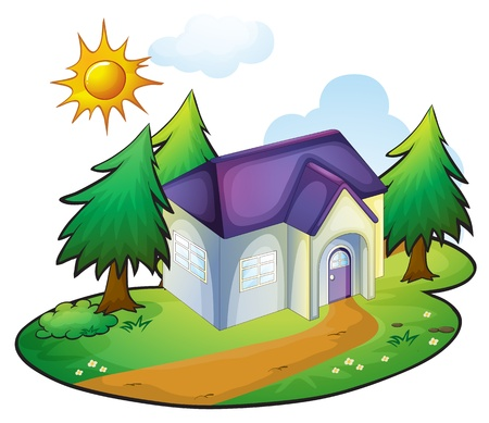 illustration of a house in a beautiful nature Stock Vector - 16188268