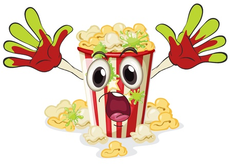 illustration of a popcorn on a white background Vector