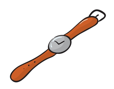 wrists: illustration of a wrist watch on a white background