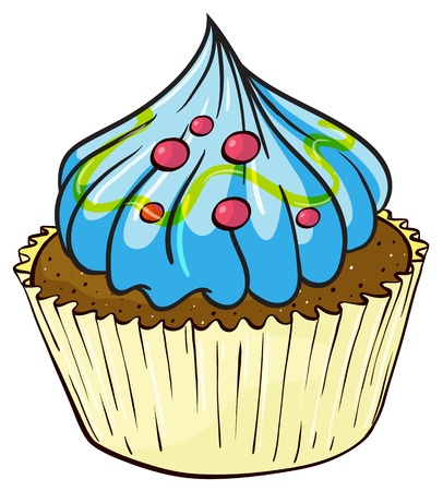 yum: Illustration of an isolated cupcake