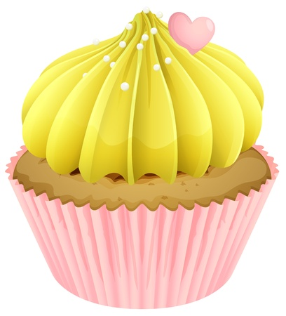 Illustration of an isolated cupcake on a white background Vector
