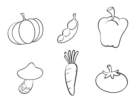 illustration of various vegetables on a white background Stock Vector - 16188196
