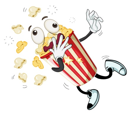 illustration of popcorn on a white background Vector