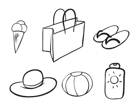 illustration of various objects on a white background Stock Vector - 16237156