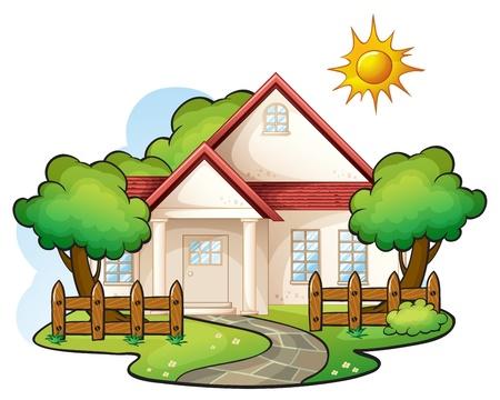 illustration d'une maison sur un fond blanc Vecteurs