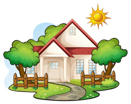 bungalows: illustration of a house on a white background