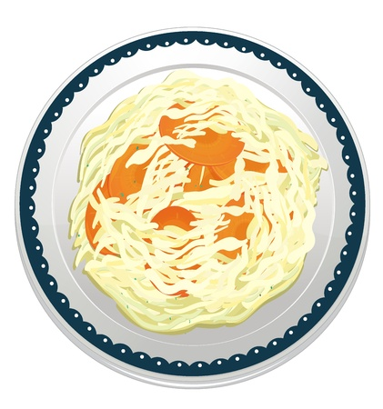 dinning: illustration of a dip misc in a dish on a white background