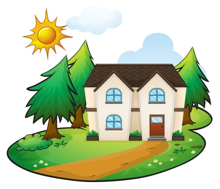 home clipart: illustration of a house on a white background