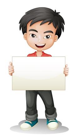 student boy: illustrazione di un ragazzo su uno sfondo bianco