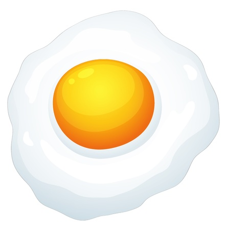 cooked: illustration of an egg omlet on a white background