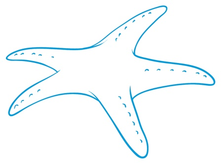 illustration of a star fish sketch on white background