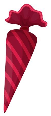 illustratie van een snoep zoete op een witte achtergrond Vector Illustratie