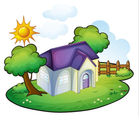illustration of a house in a beautiful nature Stock Vector - 16283366
