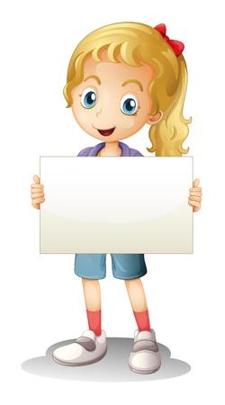 illustration d'une fille sur un fond blanc