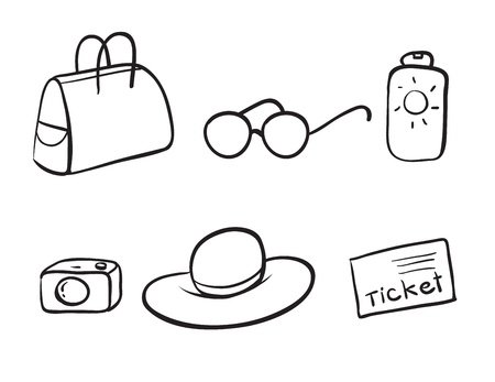 illustration of various objects on a white background Stock Vector - 16283085