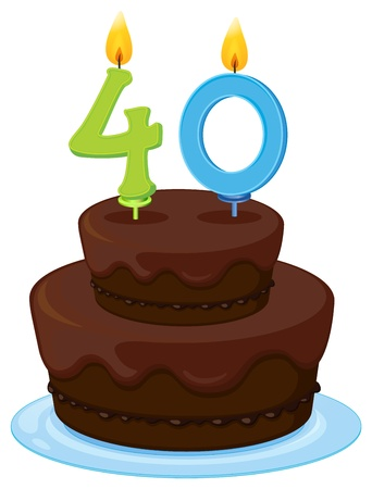 illustration of a birthday cake on a white background Stock Vector - 16283682