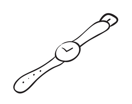 illustration of a wrist watch sketch on a white background Stock Vector - 16283476