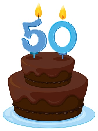 illustration of a birthday cake on a white background Stock Vector - 16283685