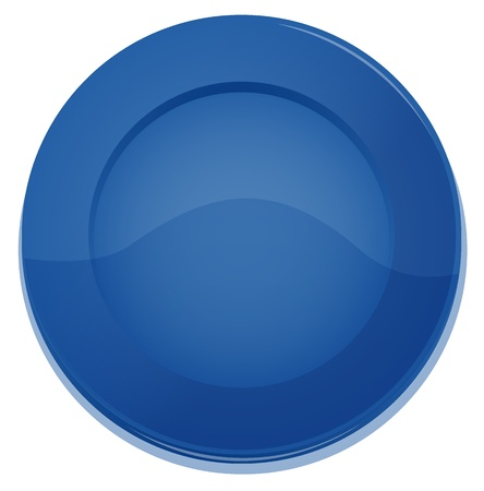 illustration of a blue plate on a white background Vector