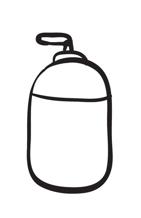 illustration of the spray bottle sketch on a white background Stock Vector - 16283261