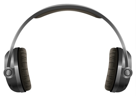 dj headphones: illustration of a headphone on a white background